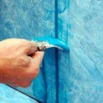 синяя затирка для плитки